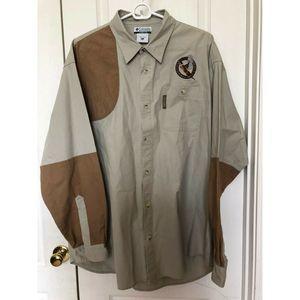 COLUMBIA Button Down Shirt Hunting Fishing Mens XL